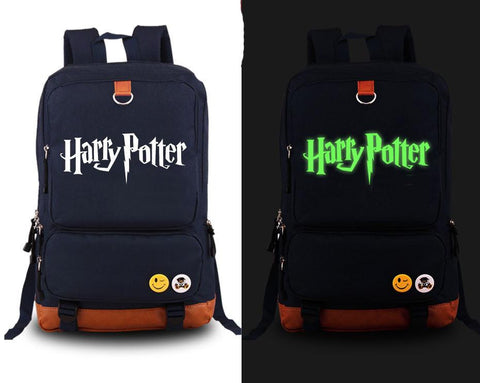 Japanese Anime Bag New fashion High-quality Harry Potter men Backpack  Canvas Student Luminous Schoolbag women shoulder bag Unisex Travel Bags AT_59_4