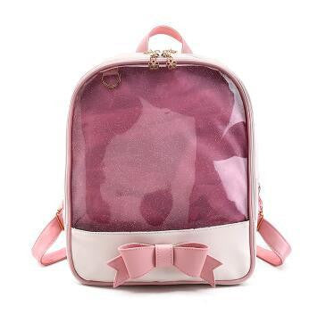 c77a9ce05d ... Women backpack Summer Candy Clear Bow Transparent Backpacks PU Leather  Solid Color Cute Schoolbags for teenage ...