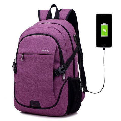 522b5a3f713a ... USB Unisex Design Backpack Book Bags for School Backpack Casual  Rucksack Daypack Oxford Canvas Laptop Fashion ...