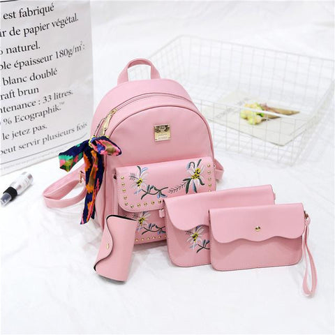 0bf7c89da065 2017 hot sale 4 Bag Set New girl Backpacks Brand Designer Women Bag Em –  2018 AT 142 30 (Animetee.com Friends)