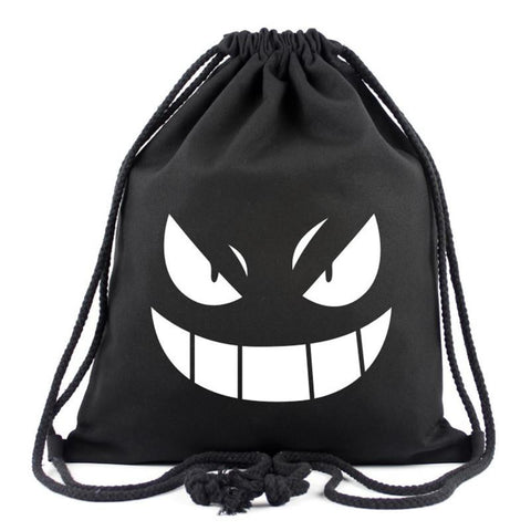 04cb00fab1 Japanese Anime Bag 2017 New Pokemon Gengar Canvas Drawstring Bag  Multicolors Backpacks Casual Travel Bags Monster