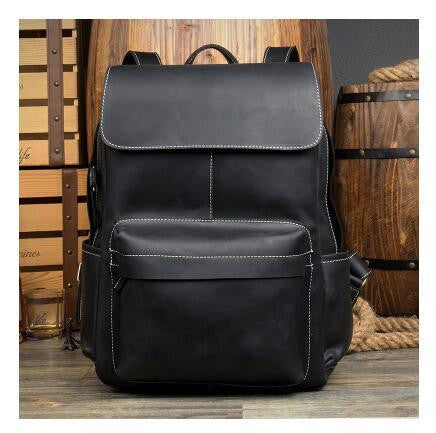 b757c431d3 100% Genuine Leather Backpack Large Capacity Cow Leather Travel Bags H –  2018 AT 142 30 (Animetee.com Friends)
