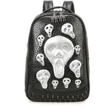 2017 Punk Hipster Style Skull Rivet Shoulder Bags Unisex Black Golden Silver Fashion PU Personality Gothic Travel Backpacks