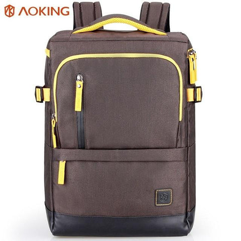 Aoking Korean Fashion Backpack Anti-thief Mochila For Teenagers Large Capacity Nylon Backpack 15 inch Notebook Computer Bags