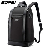 BOPAI Brand Men Backpack USB External Charge Backpack Computer Bag Shoulders Anti-theft Backpack 15 inch Waterproof Laptop Bags