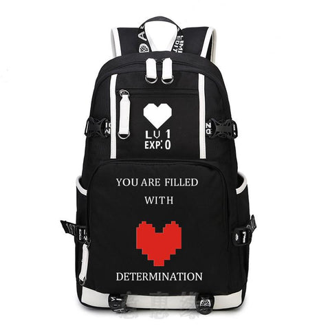 Japanese Anime Bag New UNDERTALE Backpack Cosplay  oxford Bag Schoolbag Travel Bags AT_59_4