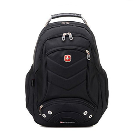 2015 New Swiss Laptop Backpack School Backpacks Notebook bag Travel Bag Men black backpack