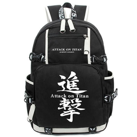 2017 New Attack on Titan Luminous Backpack Shingeki no Kyojin Cosplay Teenagers Unisex Students Schoolbag Bookbag Travel Bag
