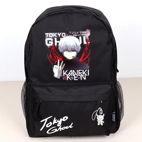 2017 New unisex printed head backpacks teenagers Japanese anime school bags mochila tokyo ghoul backpack Free shipping