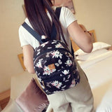 2016 new summer flowers floral shoulder bag fashion printing small backpack Pu small backpack female