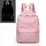 2017 New Softback Night Luminous Backpacks Simple Preppy Style Canvas Students School Bags Unisex For Teenager Girls and Boys