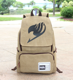 Anime Fairy Tail Backpack Student Cartoon School Bags Canvas Travel Backpacks Durable Teenager Daily Bag