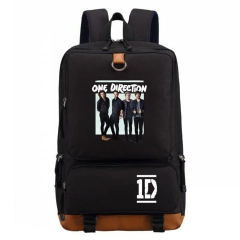 1D One Direction band  backpack Cartoon fashion casual backpack teenagers Men women's Student School Bags travel bag