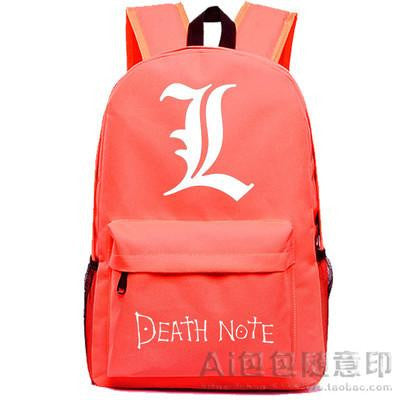 Anime Death Note Cosplay Anime backpack male and female student bag travel backpack