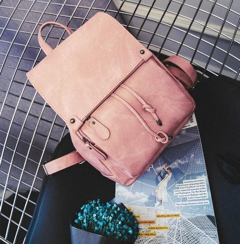 2016 Fashion Women PU Leather Backpack School Bag Travel Bookbag Casual Female Rucksack High Quality ladies pu backpacks XA684B