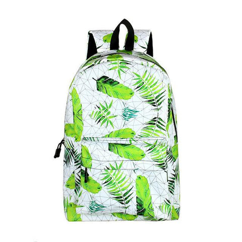 2017 New Arrival Leaf Printing Backpack College Students Leisure Boys Girls Rucksack School Bags for Teenager Women Men Backpack
