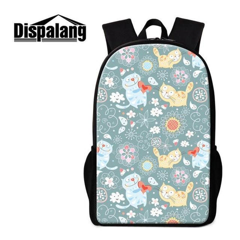 14dc330d028d ... Dispalang Fox Animal 3D Printing School Bag For Teenagers Girl Rucksack  Kids Backpack 16 Inch Mens ...
