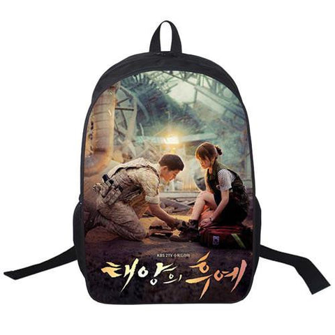 2017 New Women Bags Descendants of the sun Backpack Students School Bag For Teenage Girls Boys Backpacks Rucksack mochila