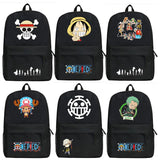 Anime One Piece Luffy Backpack Cartoon Roronoa Zoro Bags Oxford Student School Bag Unisex