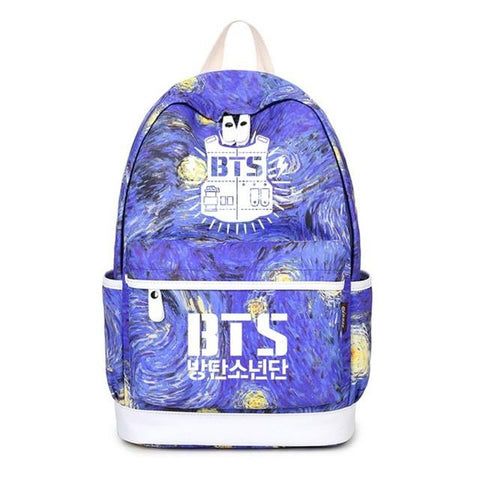 Starry sky blue bag Bangtan Boys BTS backpack teenagers boy girl s Stu –  2018 AT 142 30 (Animetee.com Friends)