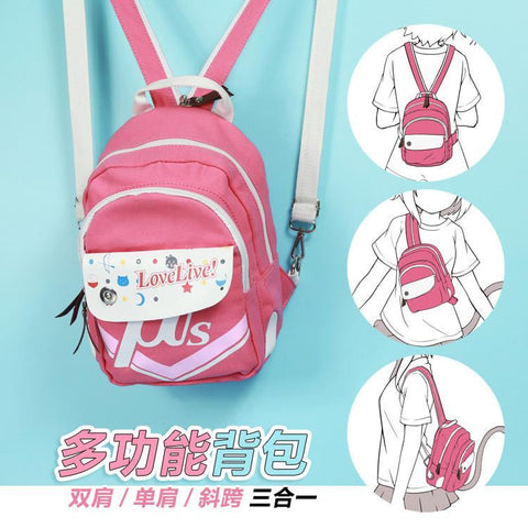 2016 LOVE LIVE cartoon Canvas backpacks girls student school backpack anime cartoon bag