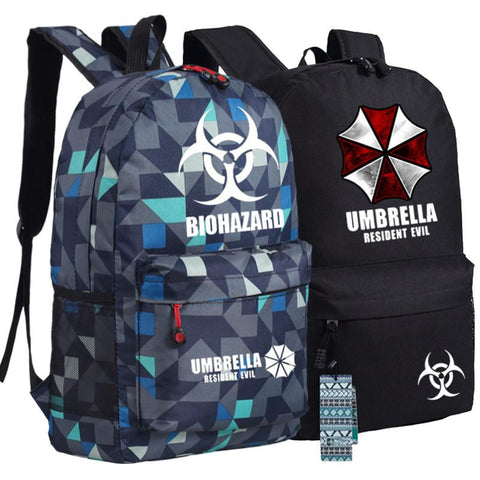Japanese Anime Bag Biohazard Umbrella Resident Evil First Aid Backpack  bags Student Back to School Schoolbags Boys Girls Mochila Gift AT_59_4