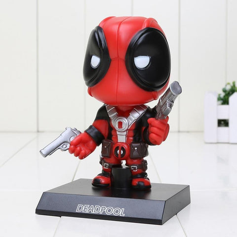 Deadpool Dead pool Taco 13.5cm  Figure Toy Wacky Wobbler Bobble Head PVC Action Figures toys opp bag AT_70_6