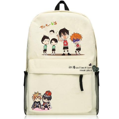 "Japanese Anime Bag  ""volley juvenile""Cosplay 2017 New Q Edition Student Campus Backpack Men & Women Leisure Travel Backpack AT_59_4"