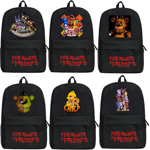 Anime Five Nights at Freddy's  Backpack Cartoon Game Bear Bags Oxford Student School Bag Unisex