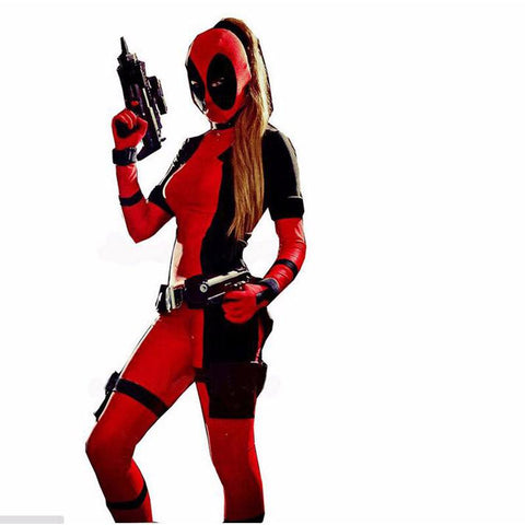 lady deadpool costume halloween costume for adult deadpool party cosplay menwomen full body zentai
