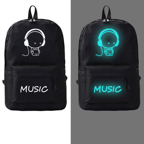 Japanese Anime Bag Flyone Men Women's Student Cartoon School Bags Casual Backpack Fashion Noctilucent Men's Backpack  Luminous Teenagers Bag AT_59_4