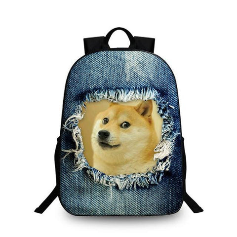 2017 Fashion Women Backpacks Vintage Printing Denim Cute Cat Backpack –  2018 AT 142 30 (Animetee.com Friends) 13e7efe811f1d