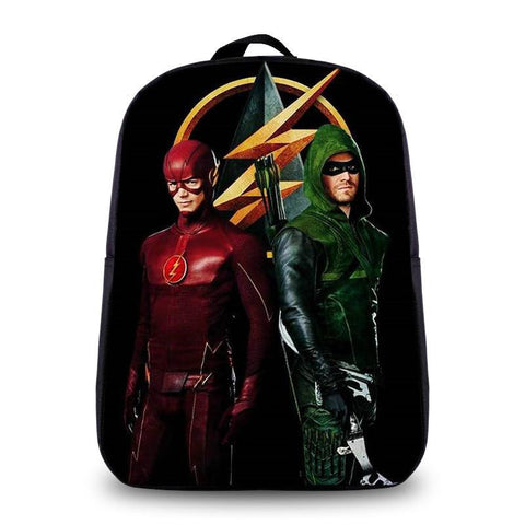 Japanese Anime Bag The Flash Heros 3D Backpack  School Bags For Teenager Girl Boy Student Small Daily Backpack Children  School bags AT_59_4