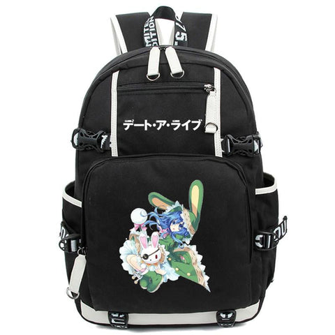 Japanese Anime Bag  Date A Live Backpack School Bag Cosplay Tokisaki Kurumi Printing Rucksack Unisex Black Shoulder laptop Bags AT_59_4