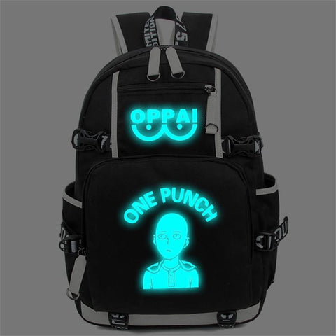 Japanese Anime Bag New  One Punch Man Luminous Backpack Cosplay Saitama Character Printing Students Schoolbag Rucksack Laptop Shoulder Bags AT_59_4