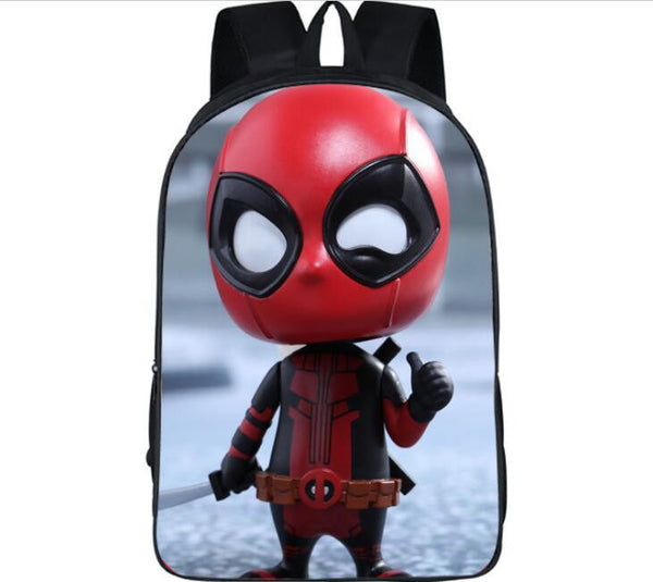 16 Inch Deadpool Cartoon Shoulderbag Students School Bag#760Kids Backpack  For Teenagers Boys Girls