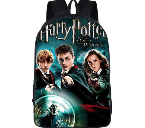 16 Inch  Harry Potter Cartoon Shoulderbag Students School Bag#745Kids Backpack For Teenagers Boys Girls