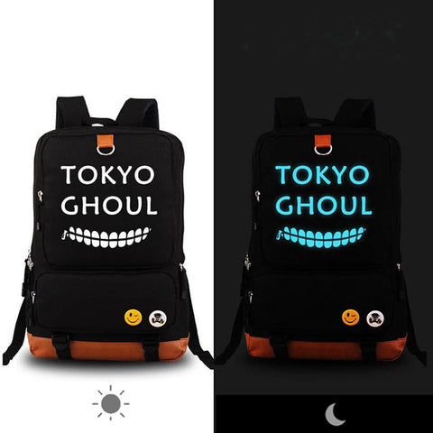 Japanese Anime Bag High Quality  Tokyo Ghouls Luminous Backpack Rucksack School Bags Printing Canvas Travel Fashion laptop Bags for Teenagers AT_59_4