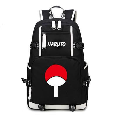 Japanese Anime Bag NEW fashion NARUTO print letter men Backpack women Canvas Bag Luminous Schoolbag Cosplay Kakashi Sasuke Uchiha  Travel Bag AT_59_4