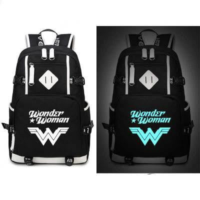 Japanese Anime Bag Wonder Woman Backpack Cosplay  Canvas Bag Luminous Schoolbag Travel Bags AT_59_4