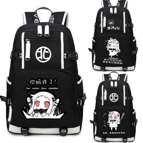 Japanese Anime Bag Kantai Collection Backpack Cosplay  Canvas Bag Luminous Schoolbag Travel Bags AT_59_4