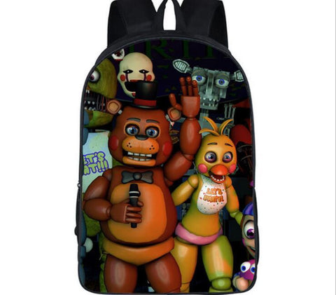 16 Inch Five Nights At Freddy's Cartoon Shoulderbag Students School Bag#737Kids Backpack For Teenagers Boys Girls