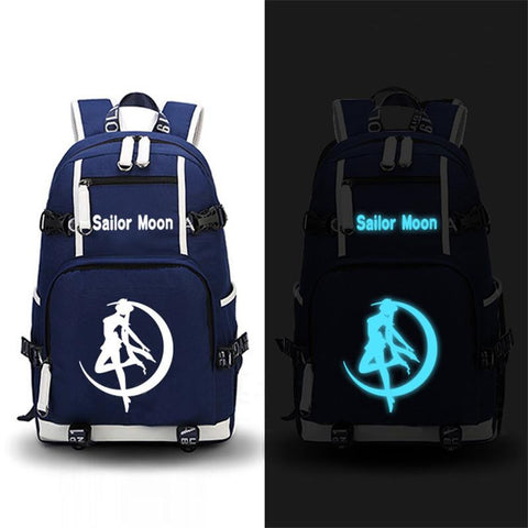 Japanese Anime Bag High Quality  Sailor Moon Luminous Backpack Men Women Printing School Shoulder Bags Laptop Backpacks Travel Bags AT_59_4
