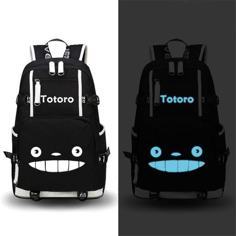 Japanese Anime Bag High Quality  My Neighbor Totoro Luminous Backpack  Cute School Bags Fashion Laptop Travel Bags Student Gift AT_59_4