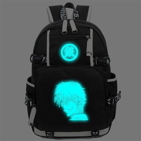 Japanese Anime Bag Gintama Luminous Backpack Sakata Gintoki Casual Daypack Women Men Schoolbag Shoulder Bag  Cosplay Travel Bags AT_59_4