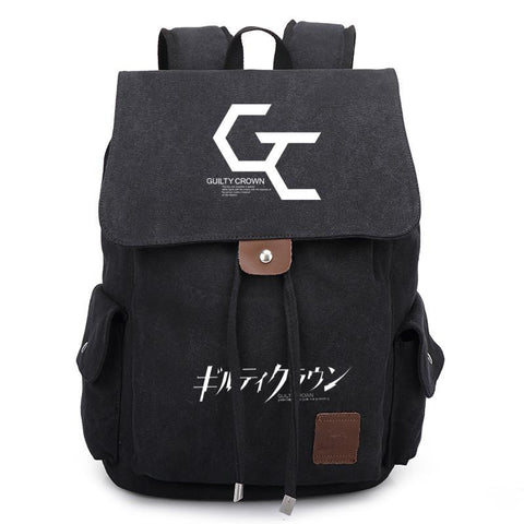 Japanese Anime Bag New  Guilty Crown GC Canvas Backpack School Bag Satchel Rucksack Leisure Shoulder Travel Bags Gift AT_59_4