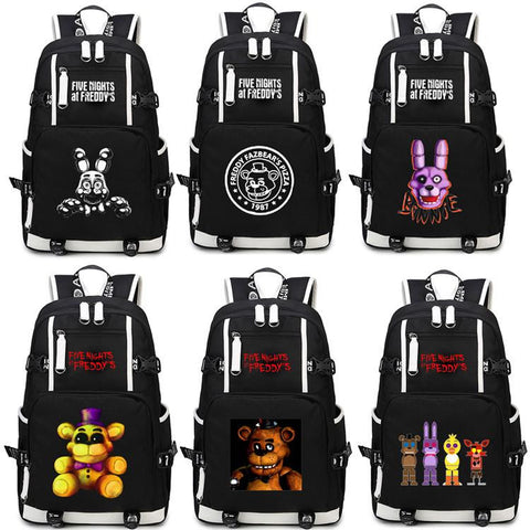 Japanese Anime Bag Five Nights at Freddy's Backpack Cosplay Bear  Canvas Bag Luminous Schoolbag Travel Bags AT_59_4