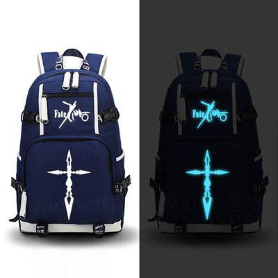 Japanese Anime Bag Fate zero Backpack Cosplay saber  Canvas Bag Luminous Schoolbag Travel Bags AT_59_4