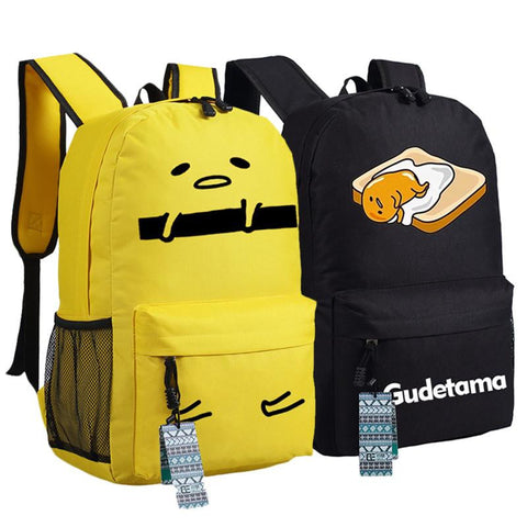 Japanese Anime Bag New fashion Gudetama print Naughty egg Backpack Cartoon  bags Student oxford Schoolbags AS Gift women men shoulder bag AT_59_4