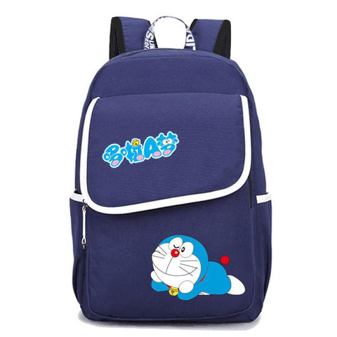 Japanese Anime Bag 2017 New  Doraemon Kawaii Palm Civet Printing Backpack Canvas School Bags Cartoon Kawaii Travel Bag Laptop Backpack Rugzak AT_59_4